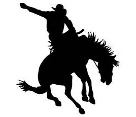 Cowboy Wall Stickers saddle bronc rider clip art http gateminder com out west
