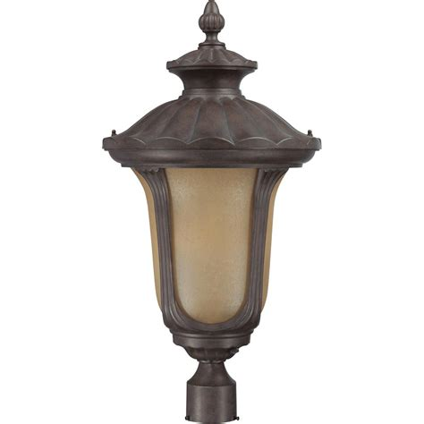 Photocell Light Fixtures Nuvo Lighting 63911 1 Light Twist Lock Base 14 Quot Beaumont Fruitwood Finish With