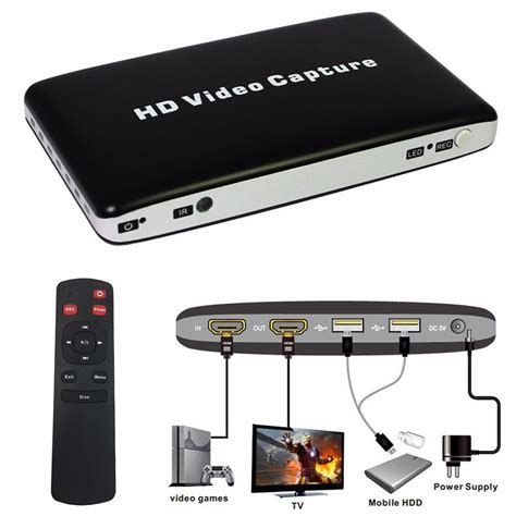 hd recorder usb 1080p hdmi hdd av hd capture recorder