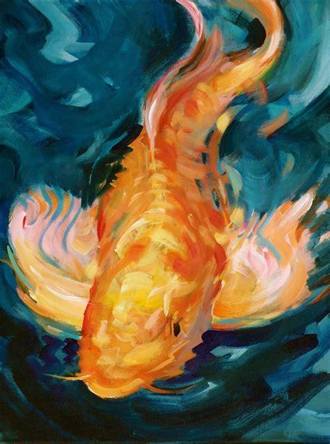 acrylic painting fish david lobenberg koi acrylic class