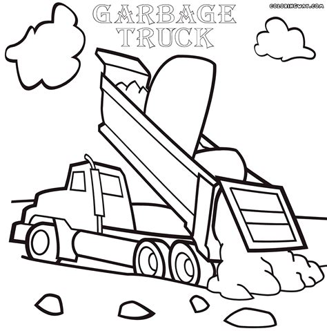 garbage truck coloring page garbage truck coloring pages coloring pages to