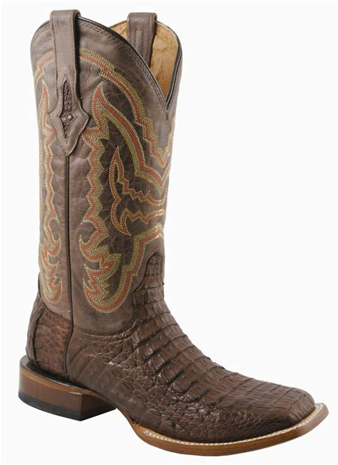 s lucchese boots cigar chocolate hornback caiman