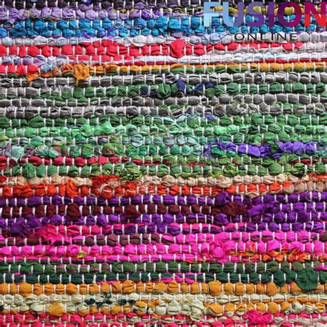 area rag rugs 100 cotton handmade multi colour chindi rug area rag rugs