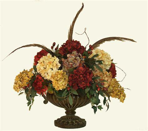 artificial centerpiece large tone hydrangea silk floral centerpiece ar258