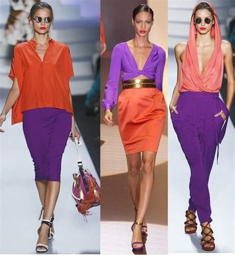 colors that match with purple trend blocking colors orange purple by gucci