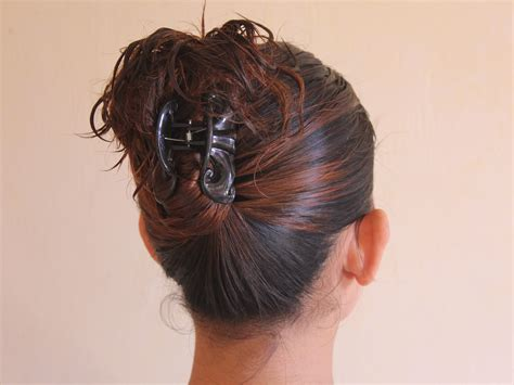 best way to put up hair for gymnastics meet 4 ways to put your hair up with a jaw clip wikihow