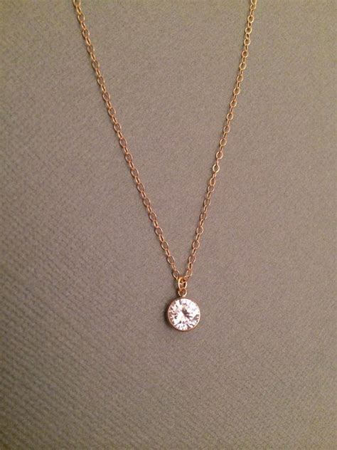 shining necklace cubic zirconia gold filled