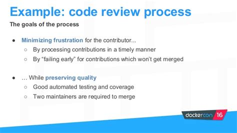 github code review workflow dockercon us 2016 scaling open source operations