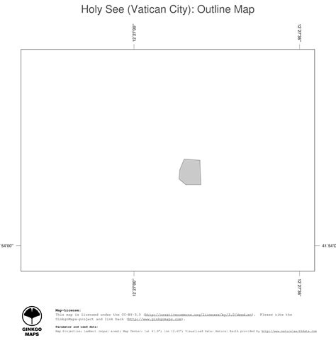 Vatican City Map Outline by Vatican City Map Outline Bamboodownunder
