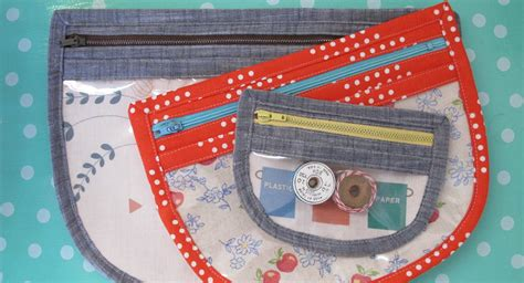 Vinyl Pouch Pattern | rounded vinyl zip pouch weallsew bernina usa s blog