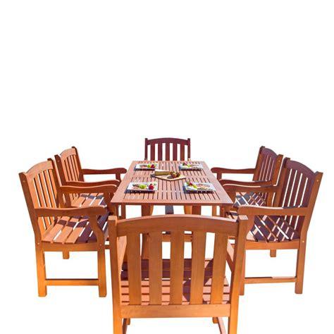 dining in malibu vifah malibu 4 wood rectangle outdoor dining set