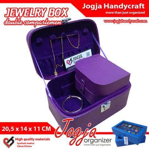 Jawelry Organizer 2 Drawers Tempat Anting Akrilik Anting Meja 2laci jewelry box kotak perhiasan simple namun lengkap