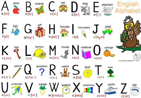 lettere inglese sta disegno di alfabeto inglese completo a colori