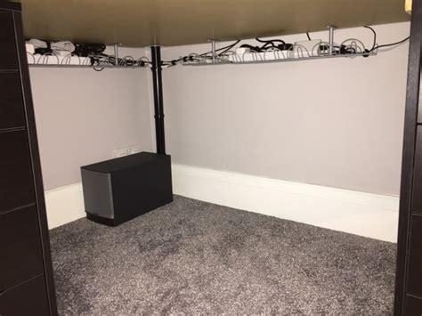computer desk cable management mac setup macbook pro with 24 displays