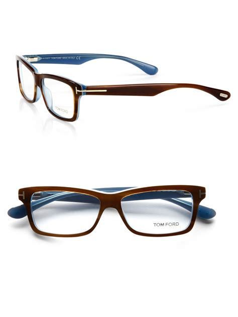 tom ford plastic optical frames in brown for lyst