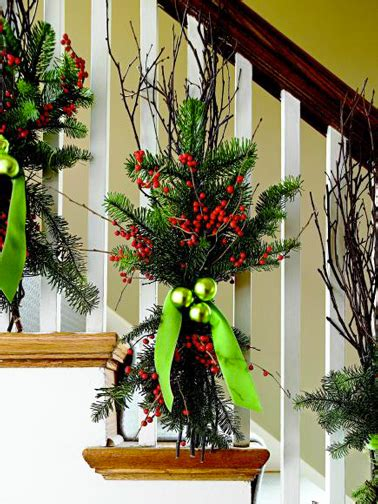 Banister Planters Front Porch Christmas Decorations Ideas For Garden