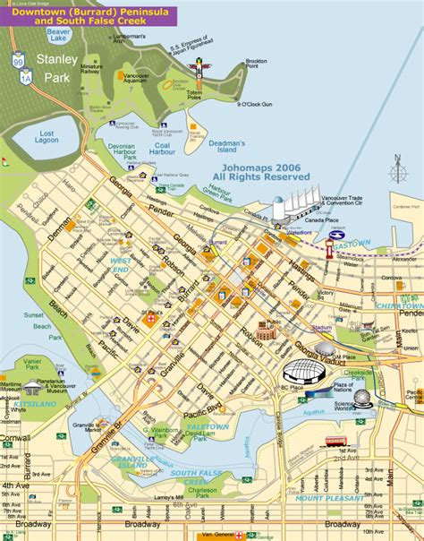 map of vancouver map of vancouver johomaps