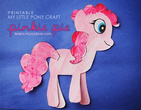 my pony crafts for printable my pony craft pinkie pie