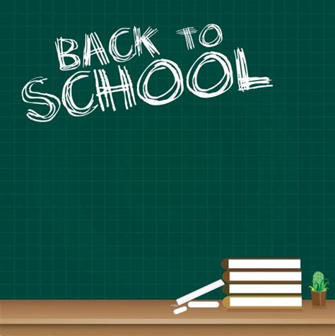 back to school background back to school background chalkboard texts books icon free