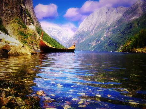 viking boats norway all things europe a viking boat somewhere in norway via