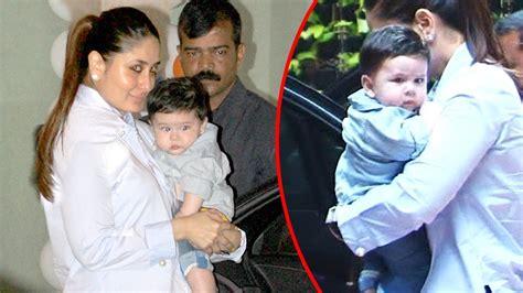 karina kapoor with son pic kareena kapoor takes baby taimur to tusshar kapoor s son s