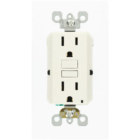 leviton 15 125 volt duplex self test slim gfci outlet