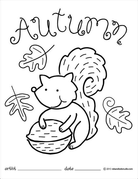 coloring pages autumn autumn squirrel coloring page blog fall coloring pages