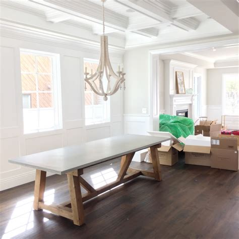 decor market palisade rectangle dining table dining install day at our pacific palisades project studio mcgee