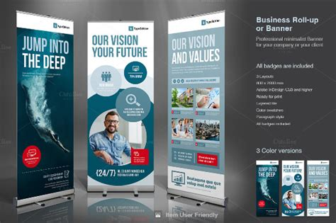 product banner template 25 rollup banner templates free sle exle format