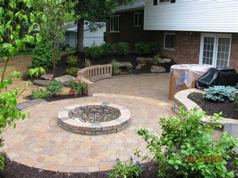 backyard patio b t klein s landscaping solution center before after