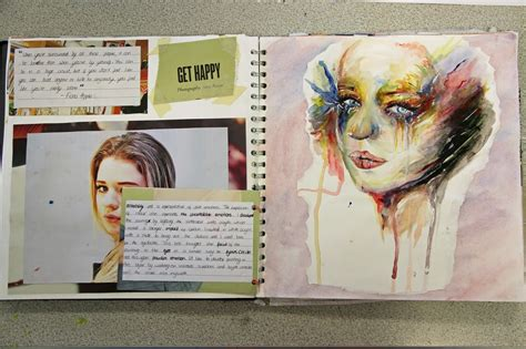sketch book for the artist artist research page layout critical contextual