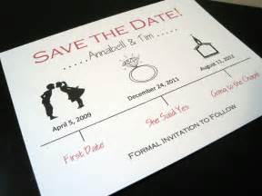 Wedding Save The Date Ideas Cute Wedding Save The Date Ivory Red Black Onewed Com