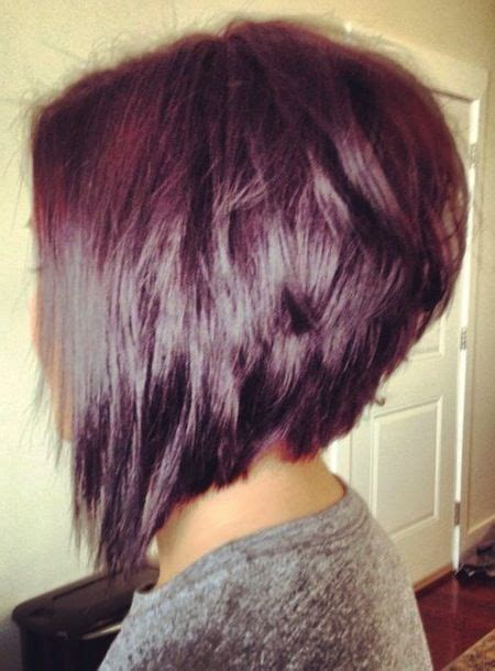 front and back of choppy inverted bob haircuts choppy stacked inverted bob haircut side view hair