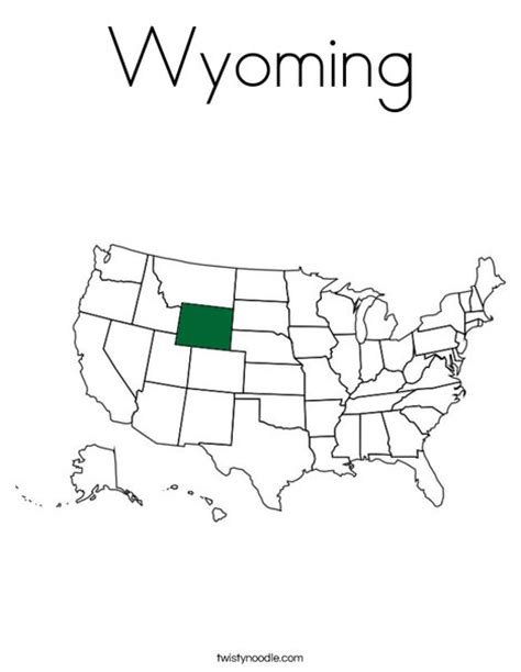wyoming coloring page twisty noodle