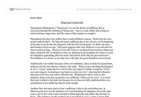 themes suffering in king lear king lear essay on suffering