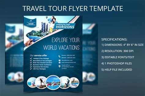tour template travel tour flyer template flyer templates on creative