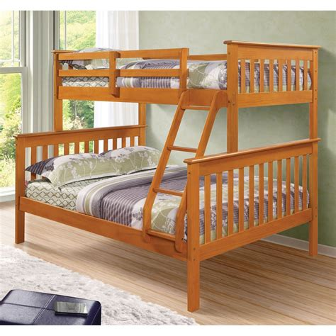 donco beds donco kids twin over full mission bunk bed hayneedle