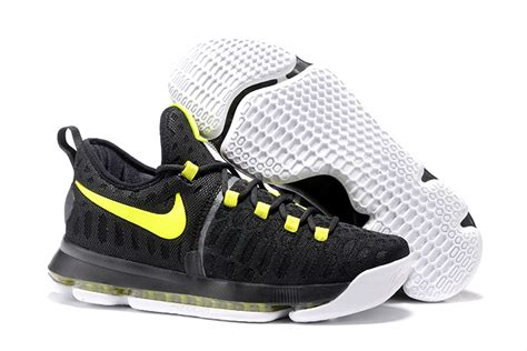 basketball shoes sale cheap nike kd 9 black neon green mens basketball shoes for