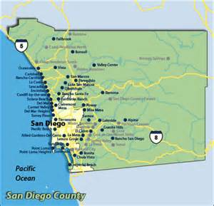 Map San Diego County by Medical Marijuana Initiatives Filed In 7 Cities In San