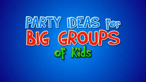 ideas for large groups ideas for large groups