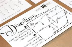 information avaiable direction cards for wedding