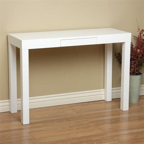 White Sofa Tables by Lachlan Glossy White Sofa Table Overstock Shopping