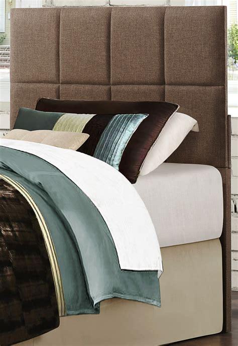 fabric headboard twin potrero brown fabric twin headboard from homelegance