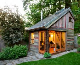 Backyard House by Rustic And Beautiful Backyard Micro House Is Built From