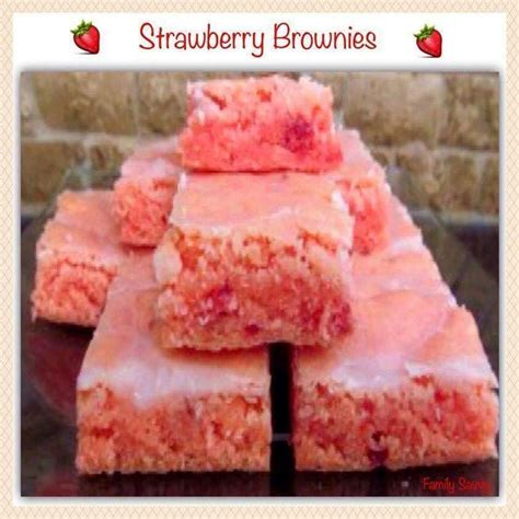 1 cup cake mix strawberry brownies 1 box strawberry cake mix 2 eggs 1