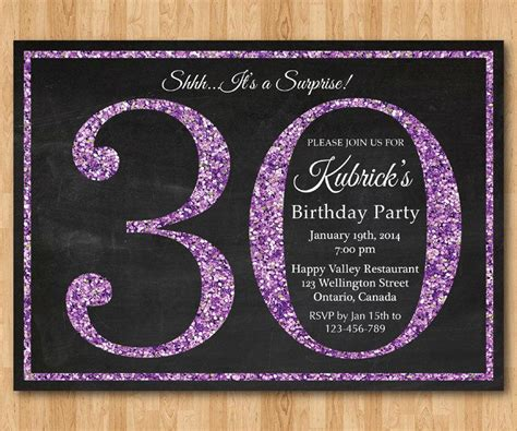 20 Interesting 30th Birthday Invitations Themes Wording Sles Birthday Party Invitations 30th Anniversary Invitations Templates
