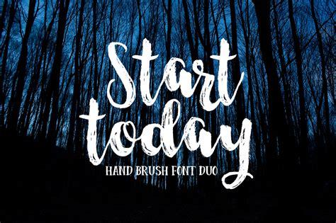 design font brush start today brush font duo by dhan studio