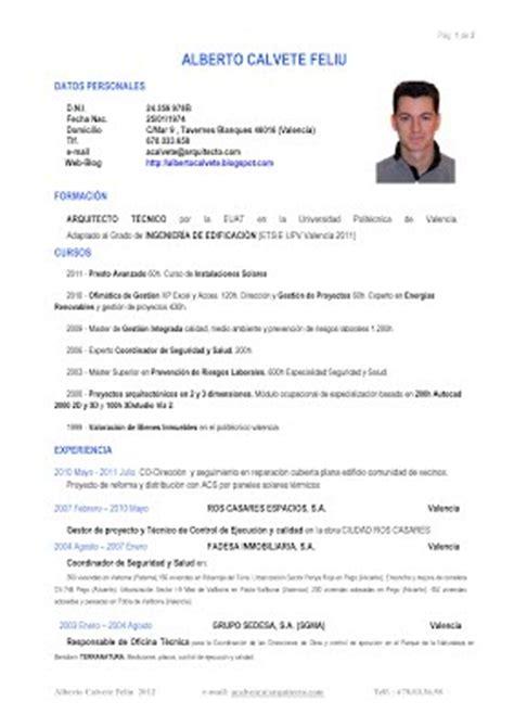 Modelo Curriculum Universia 31 191 C 243 Mo Redactar Un Curr 237 Culum Vitae Redac Especializada