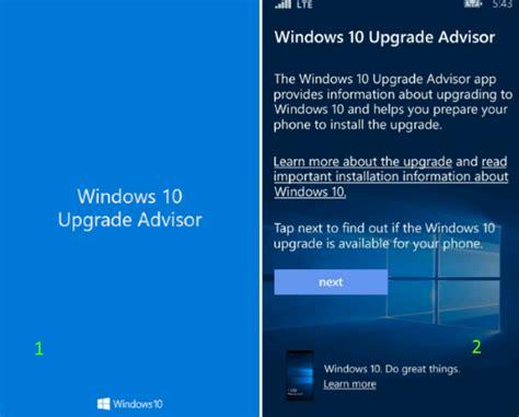 install windows 10 upgrade app how to upgrade windows phone 8 1 to windows 10 mobile