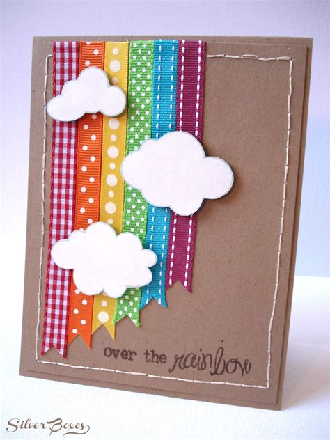 ideas for cards silver boxes the rainbow card
